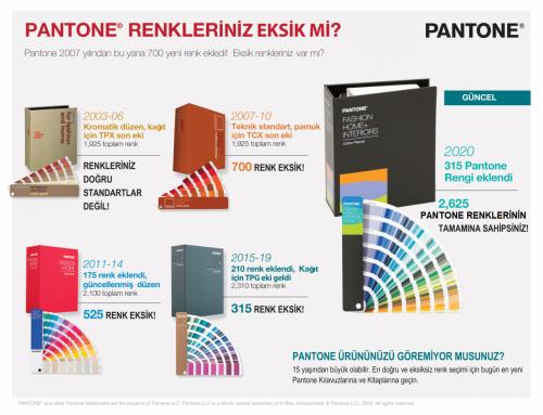 Pantone Renkleriniz Eksikmi?